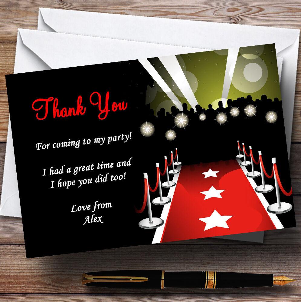 Vip Alfombra Roja Personalizado Fiesta Tarjetas De Agradecimiento