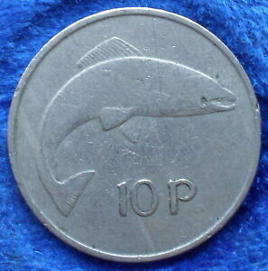 IRELAND-10-pence-1969-KM-23-Republic-Decimal-Coinage-1971-Edelweiss-Coins