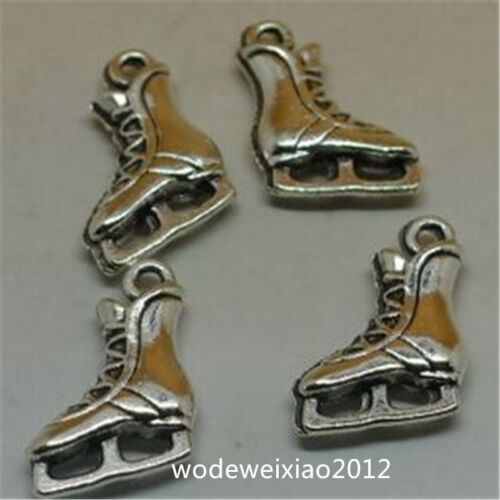 10pc Tibetan Silver skating shoes Charm Beads Pendant accessories Findings JP938