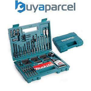 Makita-100-Piece-Power-Drill-Bit-Set-Screwdriver-Set-Holesaw-Masonry-HSS-PZ2