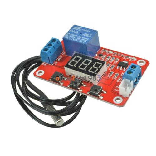 DC 12V Relay Switch Control 20 to100℃ Digital Temperature Display Module Sensor