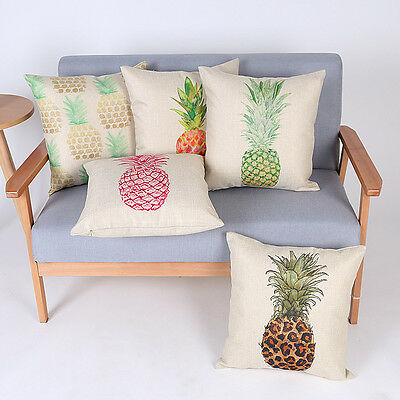 Abstract Throw Art Cushion Cover Sketch Pineapple Fruit Pattern Pillow Case New