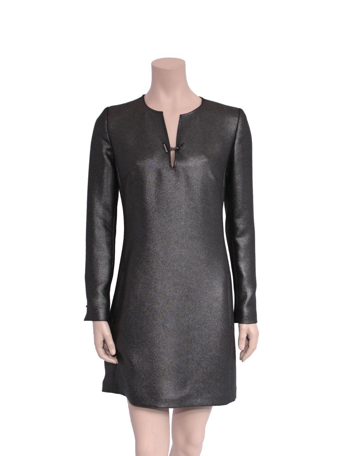 BARBARA BUI Metallic Shift Dress (SIZE 38)