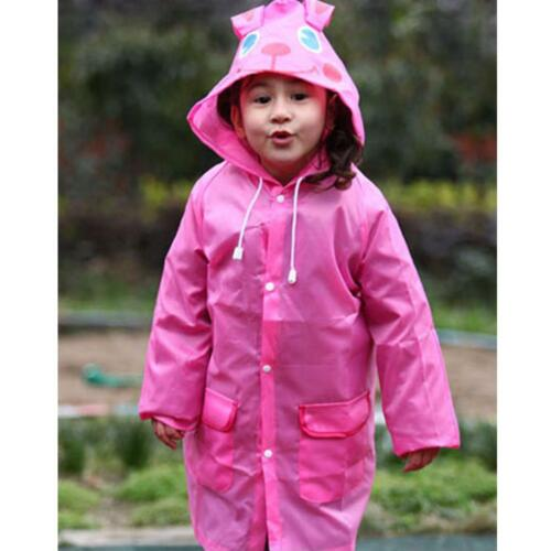Waterproof Kids Raincoat Children Rainwear Rain Coat Hooded Windbreaker Rainsuit