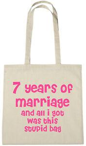 Regalo Anniversario Matrimonio 7 Anni.7 Anni Di Matrimonio Borsa 7th Anniversario Di Matrimonio Regalo