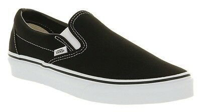 Vans Classic Slip On Black White VN-0EYEBLK Womens US 9 / UK 6.5 / EUR 40