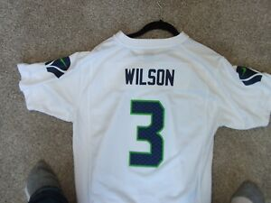 cheap for discount 30160 11d34 Details about NIKE NFL SEATTLE SEAHAWKS QB RUSSELL WILSON FOOTBALL JERSEY  YOUTH XL
