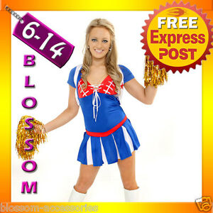 271-Cheerleader-Outfit-Fancy-Dress-Up-Costume-Pom-Poms