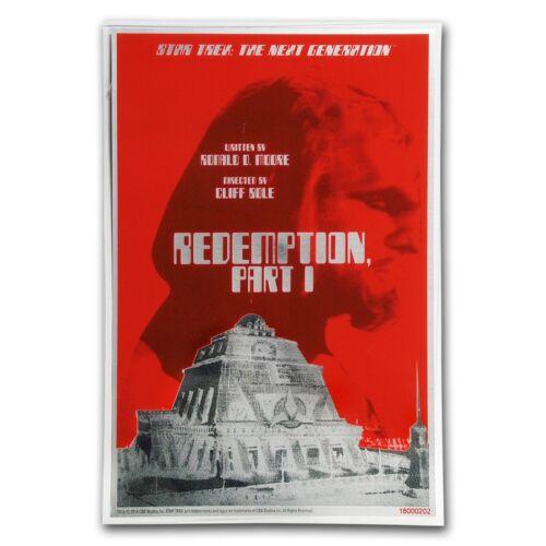 "2018 Star Trek: The Next Generation Pt 5g Silver Coin Note /""Redemption I/"""