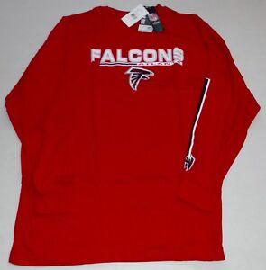 ATLANTA FALCONS LONG SLEEVE COTTON T SHIRT BIG MEN'S 4X 5X 6X RED LOGO NFL TEAM