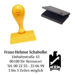 Buchdrucker & Buchbinder Firmenstempel Adressenstempel « KFZ ZUNFT ZEICHEN » mit Kissen