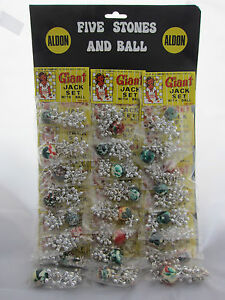 Five-Stones-Jacks-amp-Ball-Game-Vintage-Toy-Shop-Display-24-packs-Nostalgic-Retro