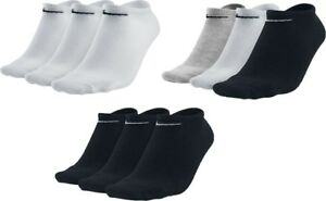 3-Pares-X-Nike-Algodon-ricos-noshow-Tobillo-Liners-Trainer-Gym-calcetines-de-deporte-Tamano-2-14