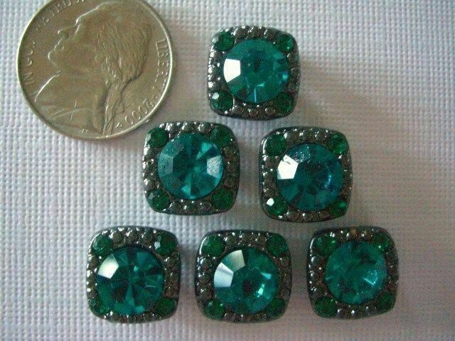 2 Hole Slider Beads Gaiety Sapphire Blue Crystal Made with Swarovski Elements #6