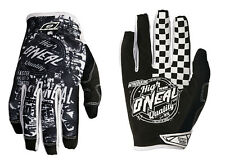 ONEAL O'NEAL JUMP motocross gloves WILD blk/wht adult sz 8 SMALL 0385-048