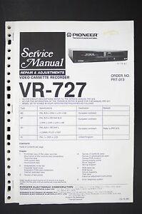 pioneer vr 727 vcr repair adjustments service manual manual wiring image is loading pioneer vr 727 vcr repair amp adjustments service