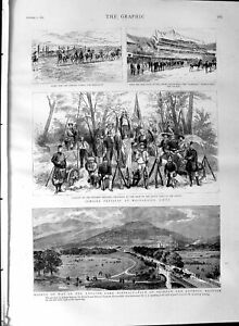 Original-Old-Antique-Print-1887-Lake-District-Skiddaw-Keswick-Chili-Valparaiso