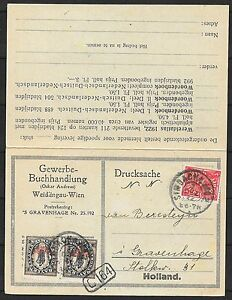 German Reich covers 1922 Advertising private DoubleCard to The Hague