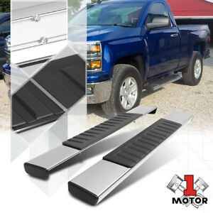 "Chrome Running Board 6"" Side Step Nerf Bar for 07-19 Sierra/Silverado Reg Cab"