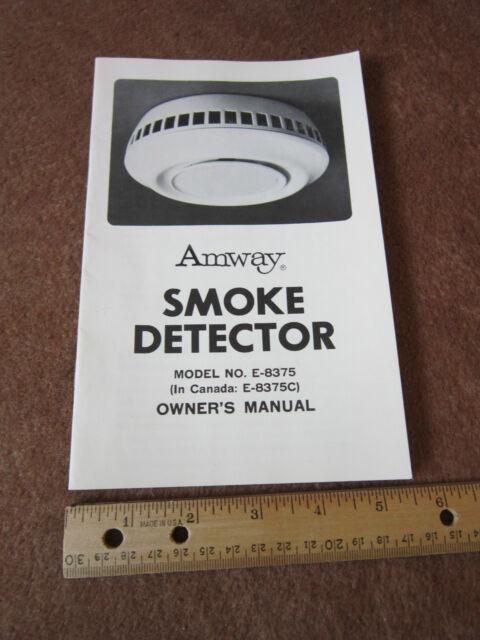 Amway Smoke Detector Manual Model E