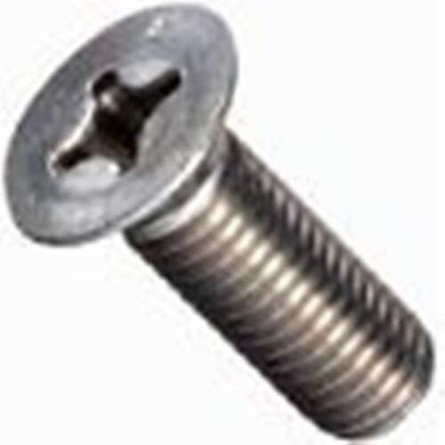 "Stainless Steel Flat Head Phillips Machine Screws 1//4-20 x 1/"" Qty-25"