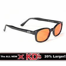 X-KD's Black Frame Orange Lens Sunglasses XKD Motorcycle Riding Glasses KD