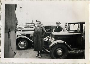 PHOTO-ANCIENNE-VINTAGE-SNAPSHOT-VOITURE-AUTOMOBILE-PEUGEOT-BATEAU-CAR-1936