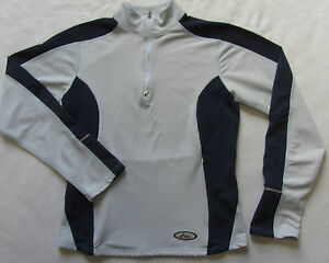 Asics-Women-039-s-Stretch-Polyester-L-S-1-4-Zip-Semi-Fitted-Athletic-Shirt-Small