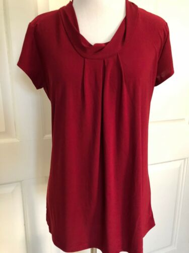 Knit Flowy Red Cherry Medium Euc Vintage Suzie Blouse UqInf1Bw