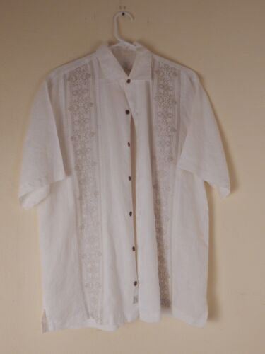 tommy bahama mens shirt, large, linen, embroidered