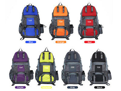 50L Outdoor Hiking Bag Camping Travel Waterproof Mountaineering Backpack