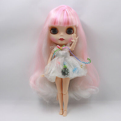 "Takara 12/"" Neo Blythe Pink Hair  joint body Nude Doll from Factory TO-004"