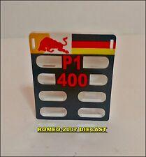 "1:18 Pitboard Formula 1 Sebastian Vettel Singapur 2012 ""P1 400"" to minichamps"