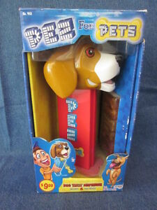 "PEZ 9"" Pets Dog Treat Dispenser 2009 Red Stem and Feet (P316)"