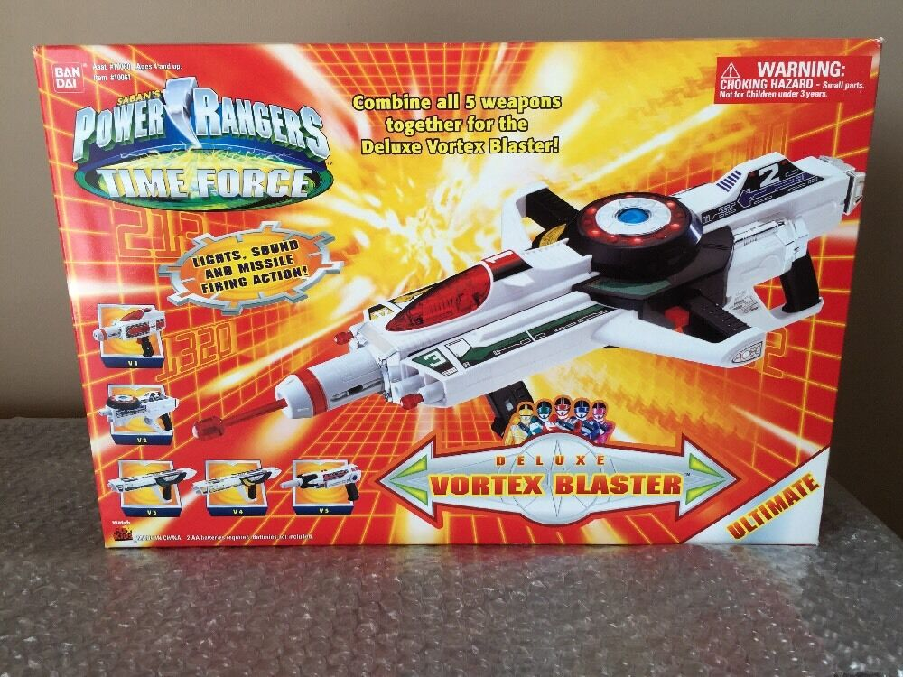 Power Rangers Time Force Ultimate Deluxe Vortex Blaster 5 Weapons Combine MISB