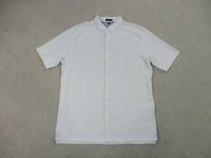 Peter-Millar-Button-Up-Shirt-Adult-2XL-XXL-White-Perfect-Pique-Blend-Mens
