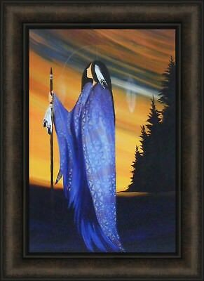 TRUTH by Betty Albert 16x22 FRAMED PRINT PICTURE Indian Native American Spear