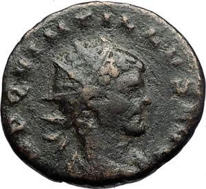 QUINTILLUS-Authentic-Ancient-270AD-Genuine-Original-Roman-Coin-FORTUNA-i71182