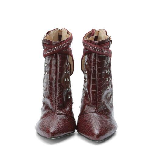 Dames strass teen Sexy puntige schoenen pumps hakken Stiletto's Hoge Gesp edWrBCxo