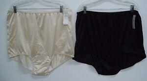 NWT USA Made Nancy King Lingerie 2 Nylon Full Panty Size 14 Black ... bff7df2f7