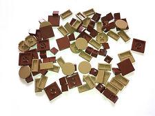 87 LEGO BRAND NEW dark tan, reddish brown tiles star wars castle lord mix lot