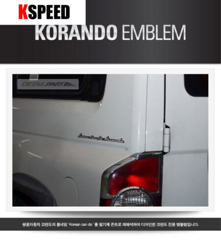 Korean Can Do Logo Point Emblem Fits: Ssangyong Korando C/& Rexton Koreando