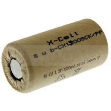10x XCell Akku Sub-C 1,2V / 1500 mAh 1500SCK / PP  Pappmantel NiCd Hochstrom