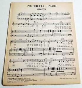 Partition-vintage-sheet-music-LOUIS-GASTE-DIANA-Ne-Siffle-Plus-1964