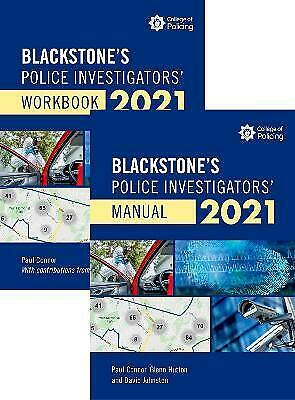 Blackstones Police Investigators' Manual and Workbook 2021, Connor, Paul,
