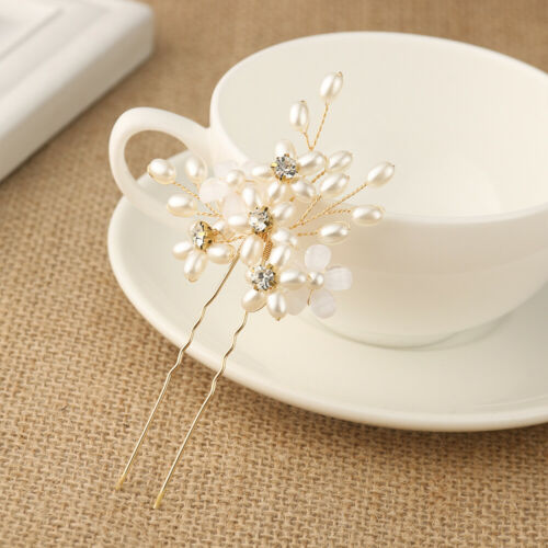Jewelry Accessories Hairpins Bridal Clips Pearl Hair Pin  Bridesmaid Tiara