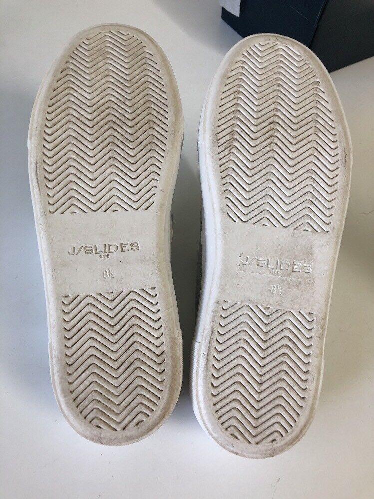 JSlide Andie Slip On Sneaker - Silver Metallic Leder - Größe 8.5M - Worn Once