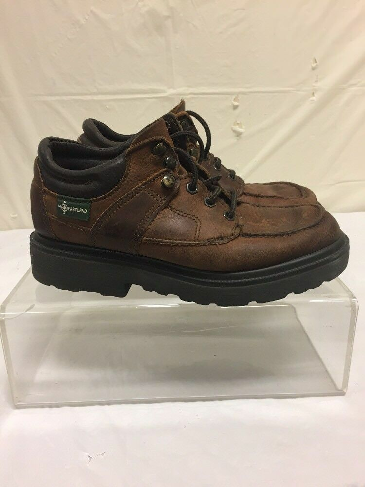 Eastland Brown Leather Ankle M Boots Mens Sz 9 M Ankle - Vintage hiking Style 6deb8f