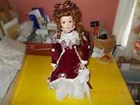 VINTAGE PORCELAIN VICTORIAN DOLL WITH STAND-HERITAGE COLLECTION.