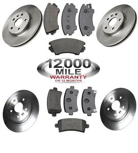FRONT-AND-REAR-BRAKE-DISCS-AND-BRAKE-PADS-FITS-VAUXHALL-INSIGNIA-296MM-292MM